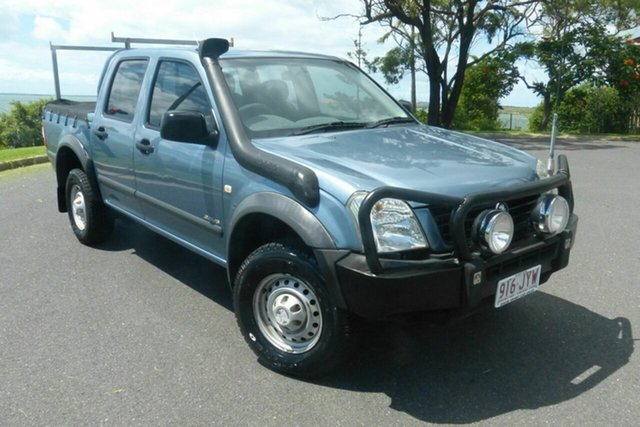 Used Holden Rodeo RA LX Crew Cab 4x2 Gladstone, 2003 Holden Rodeo RA LX Crew Cab 4x2 Blue 5 Speed Manual Utility