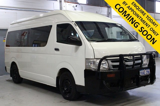 Used Toyota HiAce KDH223R MY11 Upgrade Commuter Bentley, 2011 Toyota HiAce KDH223R MY11 Upgrade Commuter White 4 Speed Automatic Bus