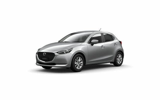 Demo Mazda 2 DJ2HA6 G15 SKYACTIV-MT Pure Toowoomba, 2021 Mazda 2 DJ2HA6 G15 SKYACTIV-MT Pure Sonic Silver 6 Speed Manual Hatchback
