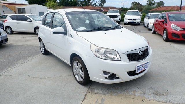 Used Holden Barina TK MY11 St James, 2011 Holden Barina TK MY11 White 5 Speed Manual Hatchback