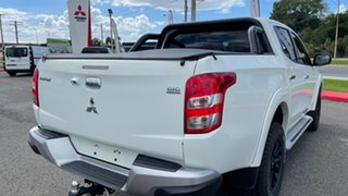 2017 Mitsubishi Triton MQ MY17 GLS Double Cab White Solid 5 Speed Sports Automatic Utility.