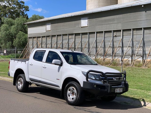 Pre-Owned Holden Colorado RG MY16 LS (4x4) Oakey, 2016 Holden Colorado RG MY16 LS (4x4) White 6 Speed Automatic Crew Cab Chassis