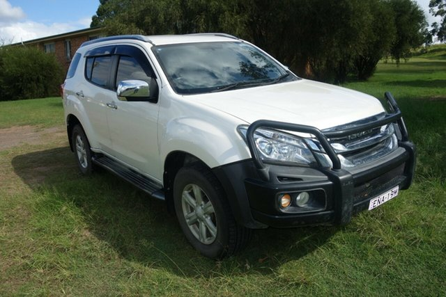 Used Isuzu MU-X MY14 LS-T Rev-Tronic East Maitland, 2014 Isuzu MU-X MY14 LS-T Rev-Tronic White 5 Speed Sports Automatic Wagon