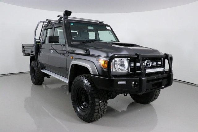 Used Toyota Landcruiser VDJ79R GXL (4x4) Bentley, 2018 Toyota Landcruiser VDJ79R GXL (4x4) Graphite 5 Speed Manual Double Cab Chassis