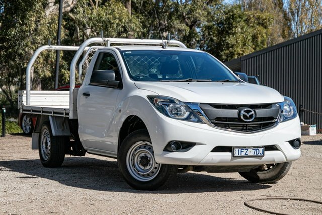 Used Mazda BT-50 UR0YD1 XT 4x2 Mornington, 2016 Mazda BT-50 UR0YD1 XT 4x2 White 6 Speed Manual Cab Chassis
