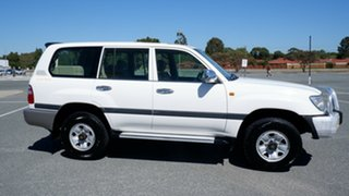 2003 Toyota Landcruiser HDJ100R GXL White 5 Speed Automatic Wagon.