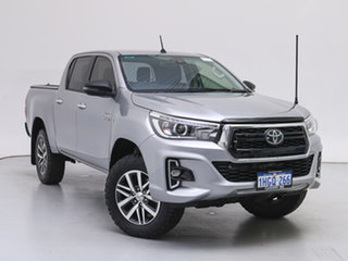 2019 Toyota Hilux GUN126R MY19 SR5 (4x4) Silver 6 Speed Automatic Double Cab Pick Up.