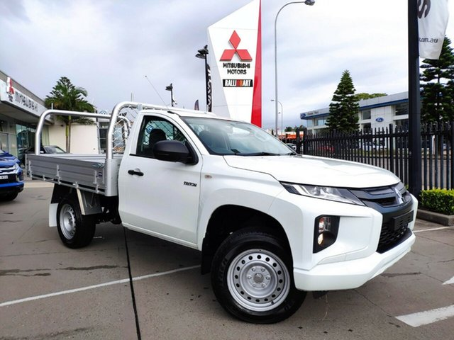 New Mitsubishi Triton MR MY21 GLX 4x2 Hamilton, 2021 Mitsubishi Triton MR MY21 GLX 4x2 White 5 Speed Manual Cab Chassis