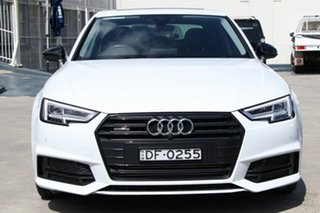 2018 Audi A4 B9 8W MY18 S Line S Tronic White 7 Speed Sports Automatic Dual Clutch Sedan