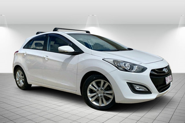 Used Hyundai i30 GD2 MY14 Trophy Hervey Bay, 2014 Hyundai i30 GD2 MY14 Trophy White 6 Speed Sports Automatic Hatchback