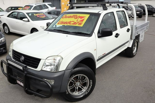Used Holden Rodeo RA MY06 LX Crew Cab Moorooka, 2006 Holden Rodeo RA MY06 LX Crew Cab White 5 Speed Manual Cab Chassis