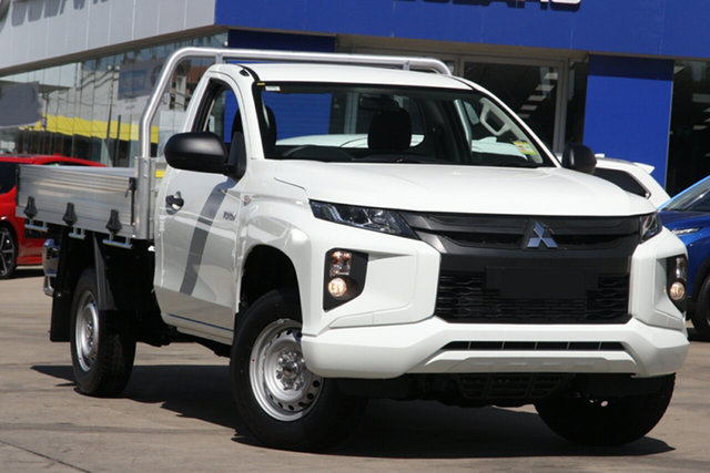 New Mitsubishi Triton MR MY21 GLX 4x2 Hamilton, 2021 Mitsubishi Triton MR MY21 GLX 4x2 White 6 Speed Sports Automatic Cab Chassis