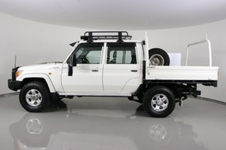 2015 Toyota Landcruiser VDJ79R MY12 Update GXL (4x4) White 5 Speed Manual Double Cab Chassis