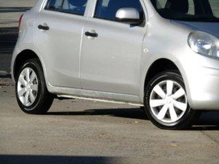 2011 Nissan Micra K13 ST Adventurine Silver 4 Speed Automatic Hatchback.