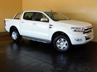 2016 Ford Ranger PX MkII MY17 XLT 3.2 Hi-Rider (4x2) White 6 Speed Manual Crew Cab Pickup