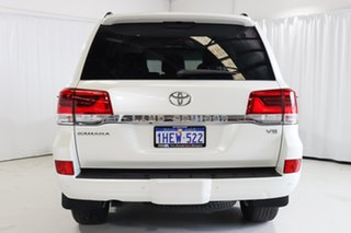 2020 Toyota Landcruiser VDJ200R Sahara White 6 Speed Sports Automatic Wagon