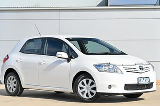 2010 Toyota Corolla ZRE152R MY10 Ascent White 6 Speed Manual Hatchback.