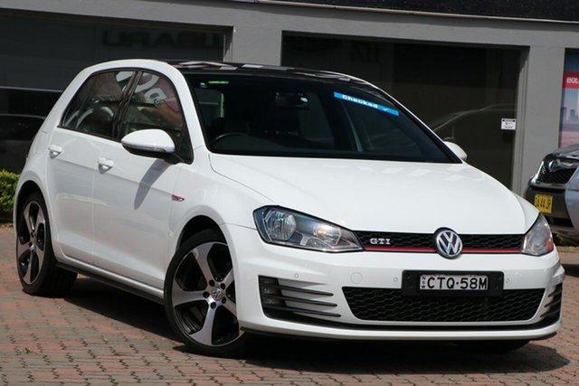 Used Volkswagen Golf VII MY14 GTI DSG Parramatta, 2014 Volkswagen Golf VII MY14 GTI DSG White 6 Speed Sports Automatic Dual Clutch Hatchback