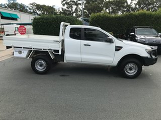 2015 Ford Ranger PX XL Cool White 6 speed Manual Cab Chassis.