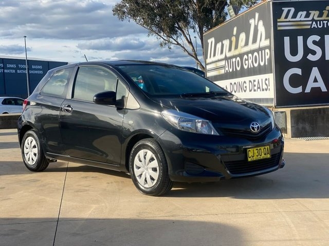 Used Toyota Yaris NCP130R YR Goulburn, 2014 Toyota Yaris NCP130R YR Black 4 Speed Automatic Hatchback