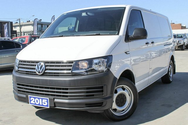 Used Volkswagen Transporter T6 MY16 TDI400 LWB DSG Coburg North, 2015 Volkswagen Transporter T6 MY16 TDI400 LWB DSG White 7 Speed Sports Automatic Dual Clutch Van
