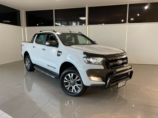 Used Ford Ranger PX MkII 2018.00MY Wildtrak Double Cab Deer Park, 2018 Ford Ranger PX MkII 2018.00MY Wildtrak Double Cab White 6 Speed Sports Automatic Utility