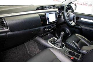 2017 Toyota Hilux GUN126R TRD Black (4x4) Eclipse Black 6 Speed Manual Dual Cab Utility