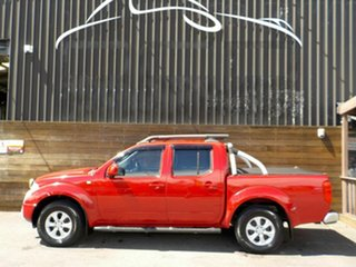 2011 Nissan Navara D40 ST Red 5 Speed Automatic Utility