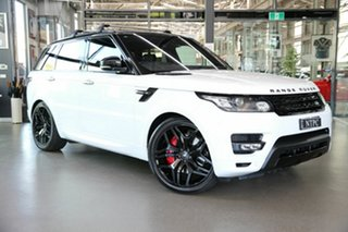 2016 Land Rover Range Rover Sport L494 16.5MY V6SC HST White 8 Speed Sports Automatic Wagon.