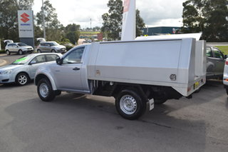2015 Mitsubishi Triton MN MY15 GLX Silver 5 Speed Manual Cab Chassis