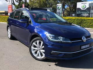 2017 Volkswagen Golf 7.5 MY18 110TDI DSG Highline Blue 7 Speed Sports Automatic Dual Clutch Wagon.