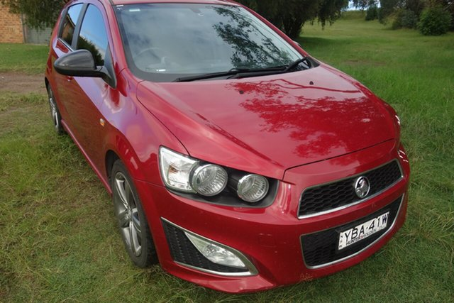 Used Holden Barina TM MY14 RS East Maitland, 2014 Holden Barina TM MY14 RS Red 6 Speed Sports Automatic Hatchback