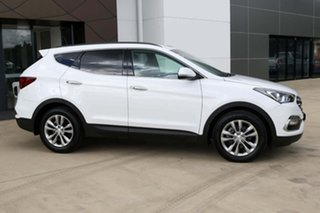 2017 Hyundai Santa Fe DM5 MY18 Elite White 6 Speed Sports Automatic Wagon.