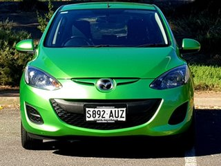 2012 Mazda 2 DE10Y2 MY12 Neo Green 5 Speed Manual Hatchback.