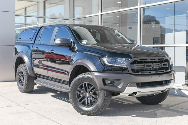 Used Ford Ranger PX MkIII 2019.00MY Raptor Ferntree Gully, 2019 Ford Ranger PX MkIII 2019.00MY Raptor Black 10 Speed Sports Automatic Double Cab Pick Up