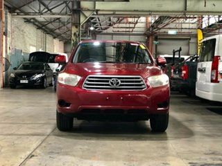 2008 Toyota Kluger GSU40R KX-R 2WD Red 5 Speed Sports Automatic Wagon.