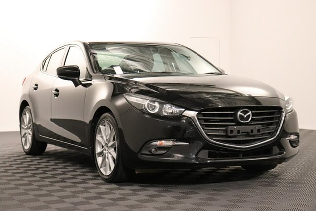 Used Mazda 3 BN5238 SP25 SKYACTIV-Drive Acacia Ridge, 2017 Mazda 3 BN5238 SP25 SKYACTIV-Drive Black 6 speed Automatic Sedan