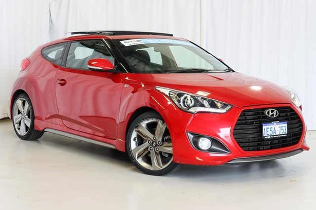Used Hyundai Veloster FS4 Series II SR Coupe D-CT Turbo Wangara, 2015 Hyundai Veloster FS4 Series II SR Coupe D-CT Turbo Red 7 Speed Sports Automatic Dual Clutch