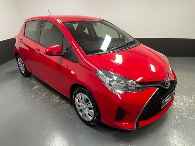 Used Toyota Yaris NCP130R Ascent Hamilton, 2016 Toyota Yaris NCP130R Ascent Red 4 Speed Automatic Hatchback