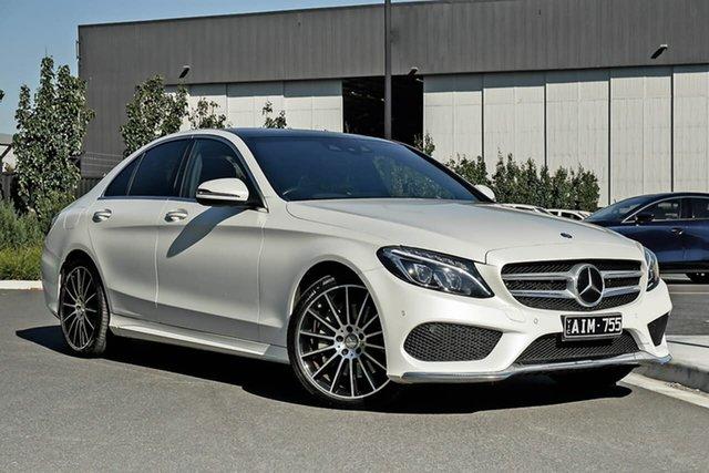 Used Mercedes-Benz C-Class W205 806+056MY C250 7G-Tronic + Essendon Fields, 2016 Mercedes-Benz C-Class W205 806+056MY C250 7G-Tronic + White 7 Speed Sports Automatic Sedan