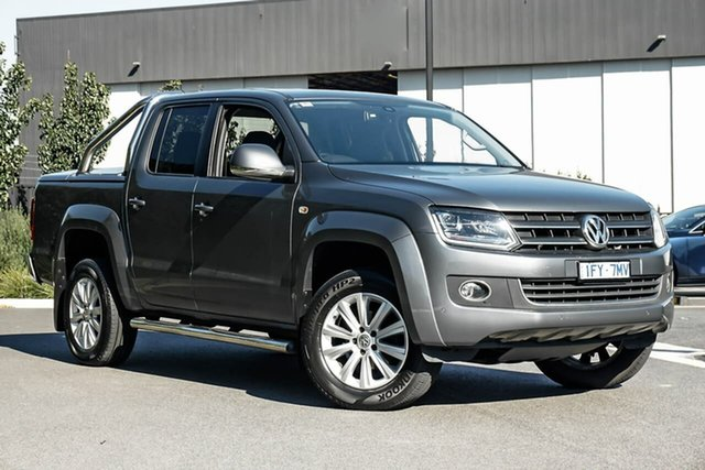 Used Volkswagen Amarok 2H MY16 TDI420 4Motion Perm Highline Essendon Fields, 2016 Volkswagen Amarok 2H MY16 TDI420 4Motion Perm Highline Grey 8 Speed Automatic Utility