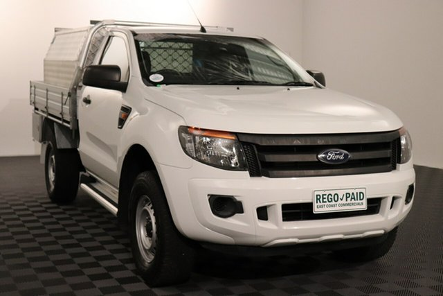 Used Ford Ranger PX XL Acacia Ridge, 2012 Ford Ranger PX XL Cool White 6 speed Automatic Cab Chassis