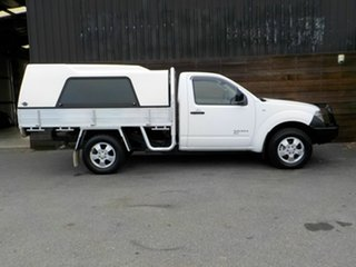 2009 Nissan Navara D40 RX White 6 Speed Manual Cab Chassis.