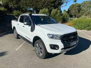 2018 Ford Ranger PX MkIII 2019.00MY Wildtrak Frozen White 6 Speed Sports Automatic Utility.