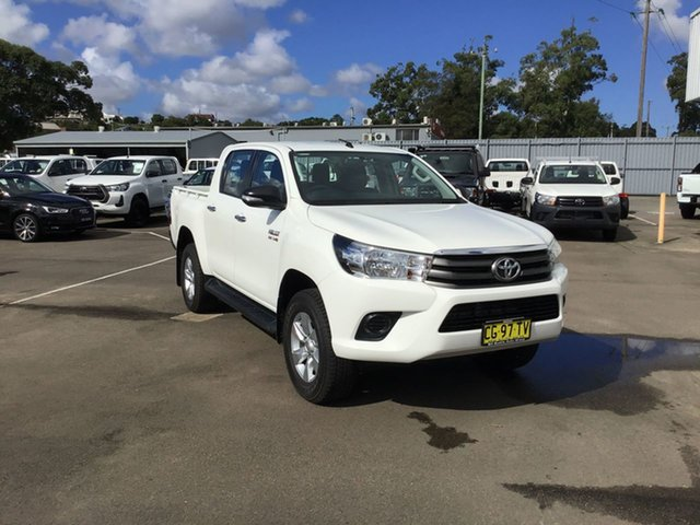 Pre-Owned Toyota Hilux GUN126R SR Double Cab Cardiff, 2015 Toyota Hilux GUN126R SR Double Cab White 6 Speed Sports Automatic Utility