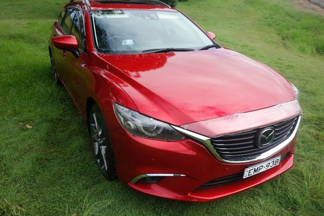 Used Mazda 6 GJ1031 MY14 Atenza SKYACTIV-Drive East Maitland, 2014 Mazda 6 GJ1031 MY14 Atenza SKYACTIV-Drive Red 6 Speed Sports Automatic Wagon