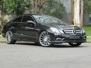 2009 Mercedes-Benz E-Class C207 E350 7G-Tronic Avantgarde Black 7 Speed Sports Automatic Coupe