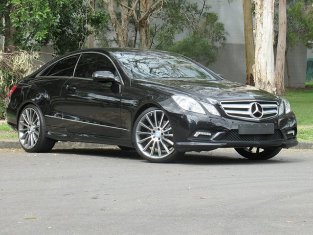 Used Mercedes-Benz E-Class C207 E350 7G-Tronic Avantgarde, 2009 Mercedes-Benz E-Class C207 E350 7G-Tronic Avantgarde Black 7 Speed Sports Automatic Coupe