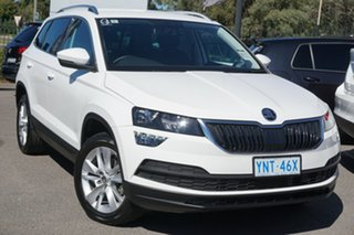 2019 Skoda Karoq NU MY20 110TSI DSG FWD Candy White 7 Speed Sports Automatic Dual Clutch Wagon.