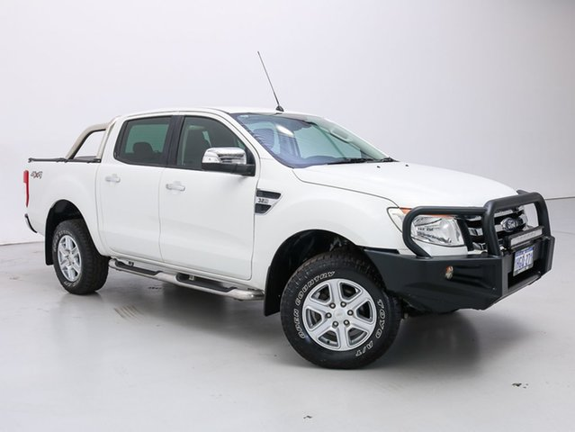 Used Ford Ranger PX XLT 3.2 (4x4), 2015 Ford Ranger PX XLT 3.2 (4x4) White 6 Speed Automatic Double Cab Pick Up